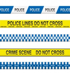 police tape vector image vector image