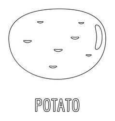 potato icon outline style vector image