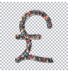 Pound sterling currency people 3d vector image