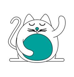 Satisfied pet cat vector
