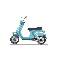 scooter light two-wheeled open motor vehicle vector image vector image