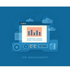 Seo Management and Developing Strategy vector image