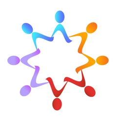 Teamwork group logo vector image vector image