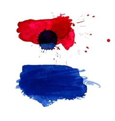 Watercolor blots vector image