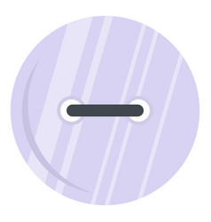 White clothing button icon isolated vector
