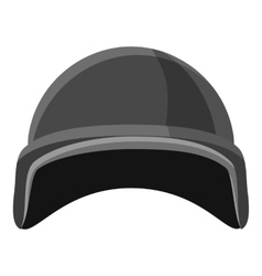 Military helmet icon gray monochrome style vector