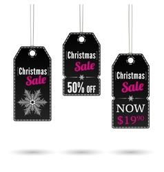 Christmas sale label vector