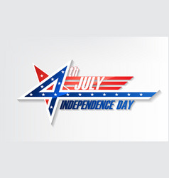 4th of july united stated independence day logo vector