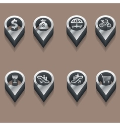 Black and white travel icons people isometric vector