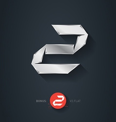 Letter z silver font elegant template for company vector
