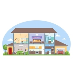 Home interior with room furniture vector image