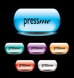 press me button vector image