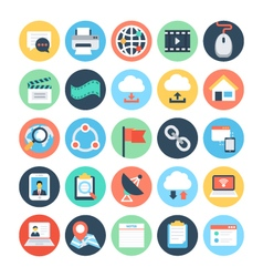 Communication flat icons 4 vector