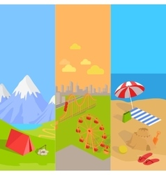 Holiday hiking and amusement park vector
