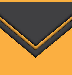 abstract yellow gray arrow background vector image vector image