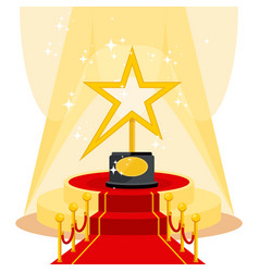 Award on red carpet vector