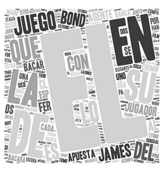 Bacara el preferido del agente text background vector