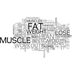 Best workout to lose abdominal fat text word vector
