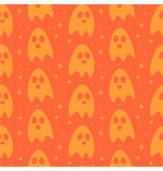 Cartoon halloween ghosts seamless pattern vector image vector image
