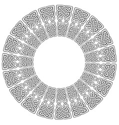 celtic mandala on white background vector image