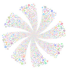 Cooperation fireworks swirl rotation vector