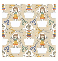 Dolls pattern 1 vector