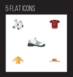 flat icon dress set of elegant headgear foot vector image vector image