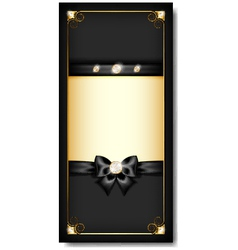 Greeting card black vector image vector image