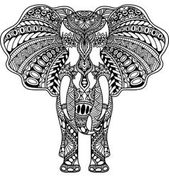 Henna mehndi decorated indian elephant vector
