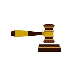Judges gavel icon flat style vector