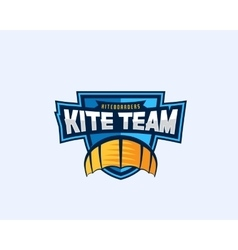 Kiteboarding team sport emblem kite symbol on a vector