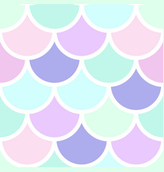 mermeid scales seamless pattern vector image