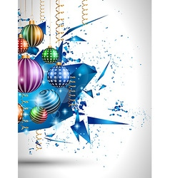 Merry Christmas Seasonal Background for your vector image