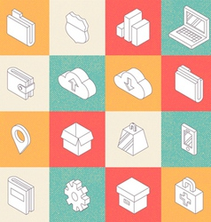 Modern Flat Icons 4 vector image vector image