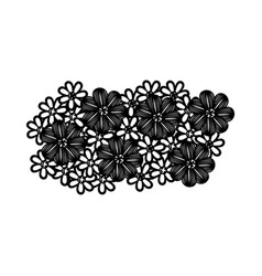 monochrome background with floral design vector image vector image