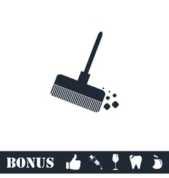 Mop bucket icon flat vector image