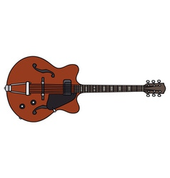 Old electric guitar vector image
