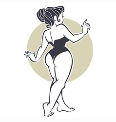 Pinup beauty vector