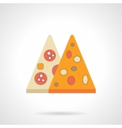 Pizza menu flat color icon vector
