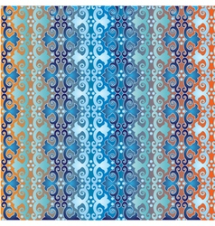 Seamless pattern islamic style blue version one vector