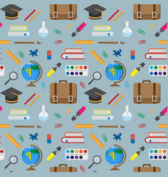 Seamless pattern with school vector