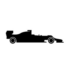 silhouette of a racing car the black color icon vector image