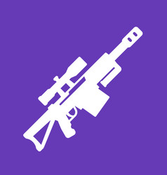 sniper rifle icon isolated pictogram vector image