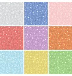 snowflake patterns vector image