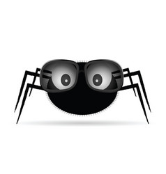spider with sunglasses vector image vector image