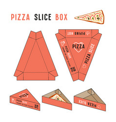 stock design of box for pizza slice vector image