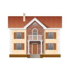 Two story residential house vector