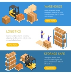 Warehouse Banners Horizontal Set vector image vector image
