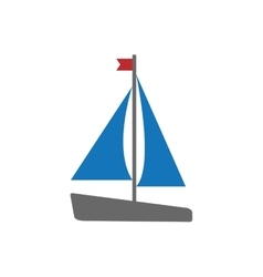Sailboat sea lifestyle nautical icon vector