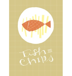 Fish and chips vector